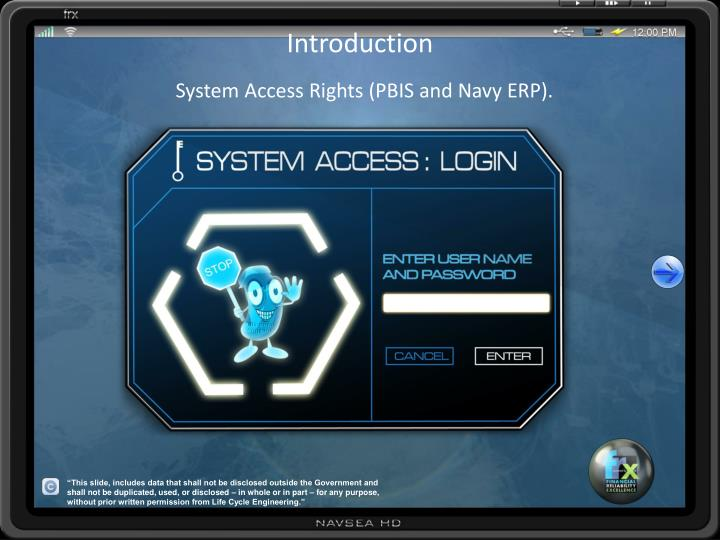 introduction system access rights pbis and navy erp n.