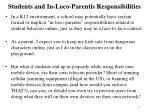 students and in loco parentis responsibilities