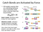 catch bonds are activated by force