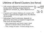 lifetime of bond clusters no force