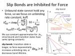 slip bonds are inhibited for force