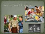 security through conformity