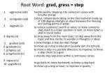 root word grad gress step