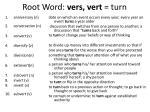 root word vers vert turn