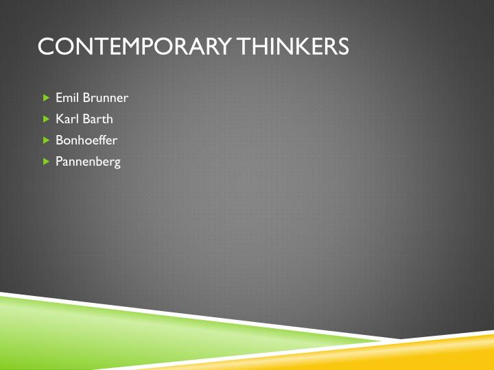 Contemporary thinkers