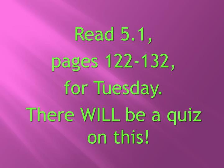 Read 5.1,