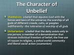 the character of unbelief1