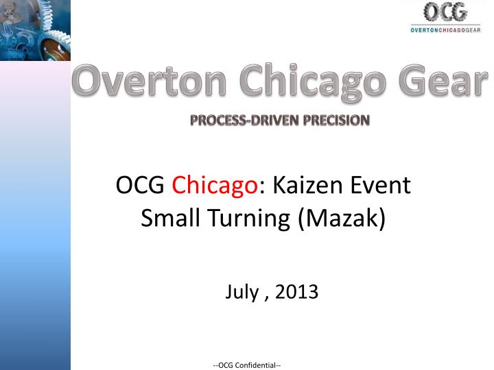 ocg chicago kaizen event small turning mazak n.