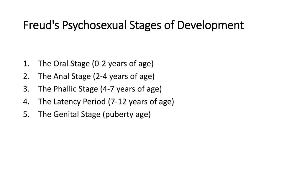 Freud's Anal Stage Thesis