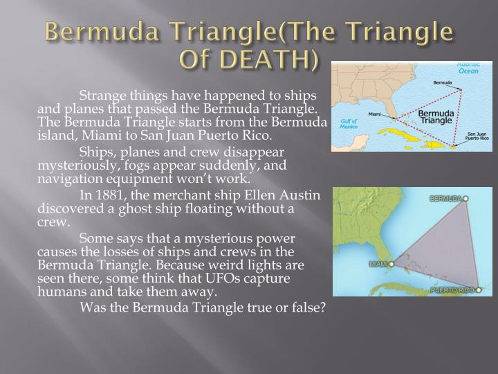 Bermuda Triangle(The Triangle Of DEATH)