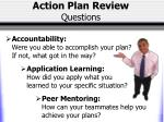 action plan review questions