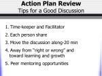 action plan review tips for a good discussion
