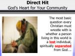 direct hit god s heart for your community