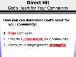 direct hit god s heart for your community2