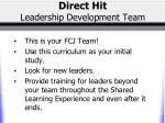 direct hit leadership development team