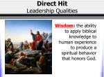 direct hit leadership qualities5