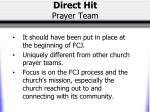direct hit prayer team