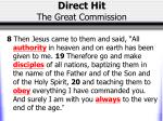 direct hit the great commission