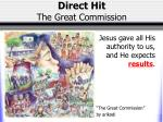 direct hit the great commission1