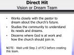 direct hit vision or dream team