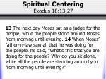 spiritual centering exodus 18 13 27