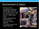 deconstruction of religion
