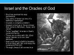 israel and the oracles of god