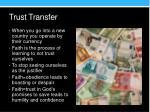 trust transfer