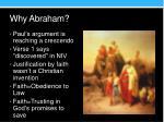why abraham