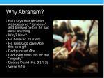 why abraham2