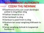 government authority cozah thu neihnak