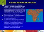 current distribution in africa
