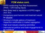 fcm status cont