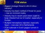 fcm status