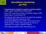 surveillance monitoring per puc