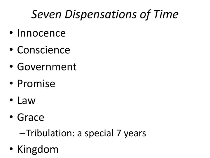 Seven Dispensations Of Time
