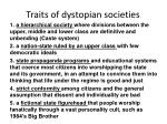 traits of dystopian societies