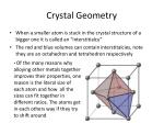 crystal geometry