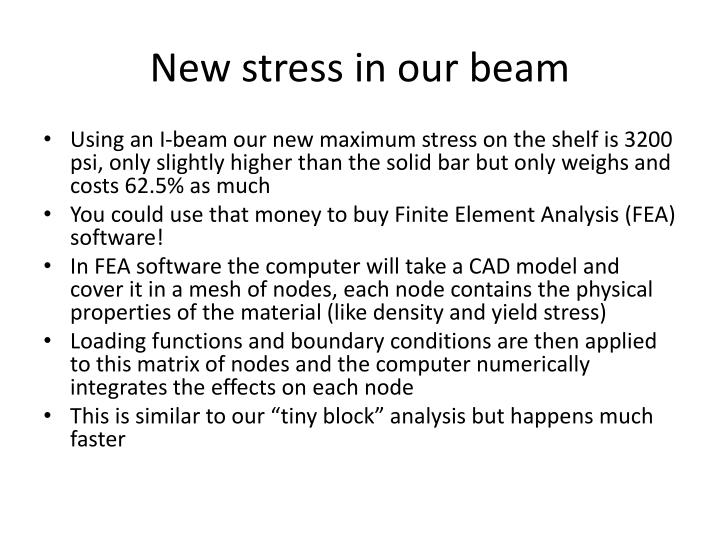 New stress in our beam