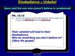 disobedience unbelief