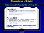 disobedience unbelief1