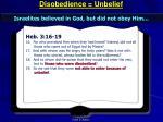 disobedience unbelief2