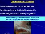 disobedience unbelief4