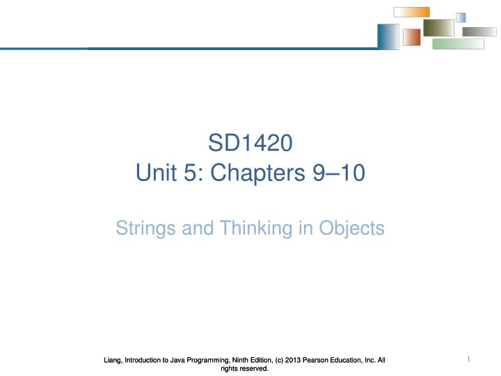 sd1420 unit 5 chapters 9 10 n.