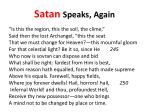 satan speaks again