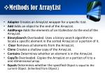 methods for arraylist
