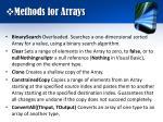 methods for arrays
