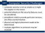 computer security challenges
