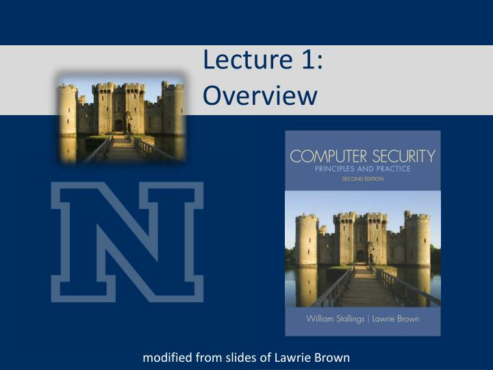 lecture 1 overview n.