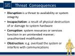 threat consequences2